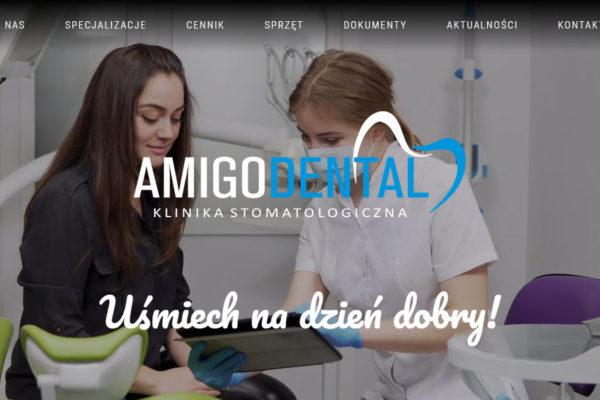 Strona internetowa dla Amigodental