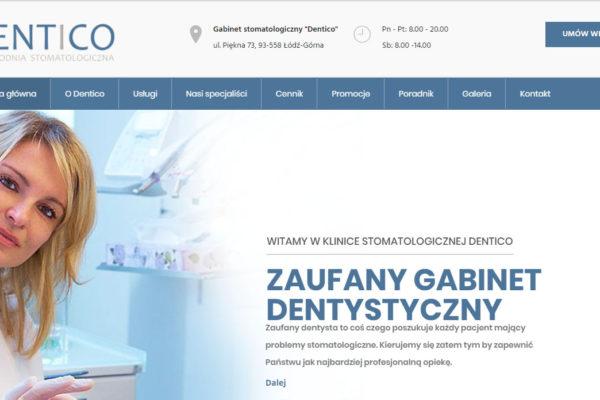 Strona internetowa dla Nzoz Dentico
